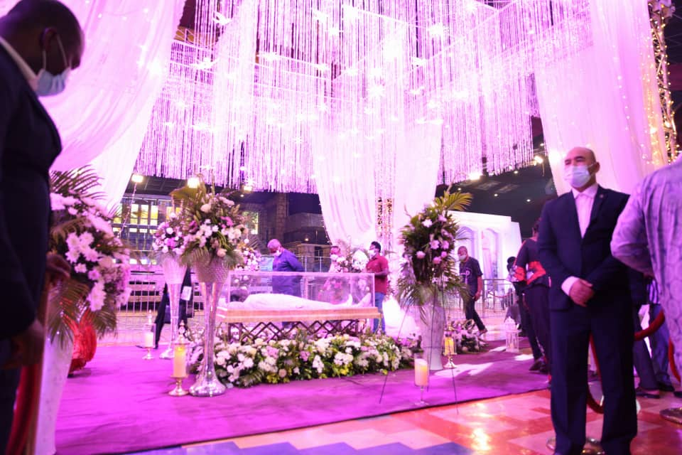 Lying-in-state service of late TB Joshua. Photo by Ayodele Efunla