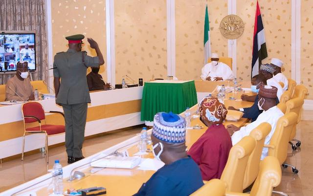 All hail the Commander-in-chief: Yahaya saluted President Buhari