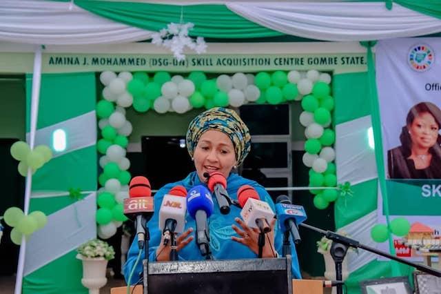 Amina Mohammed speaks at Skills centre in her name in Gombe
