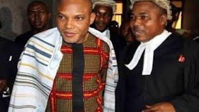Nnamdi Kanu and his lawyer Ifeanyi Ejiofor