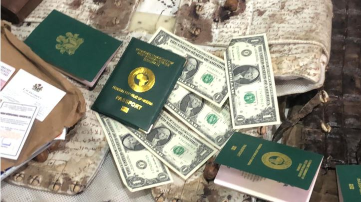 Travelling passports, $5 and Germany citizenship number also recovered