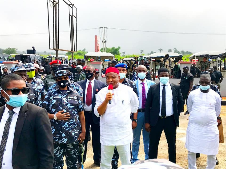 Uzodimma donates N105m to families of slain police officers