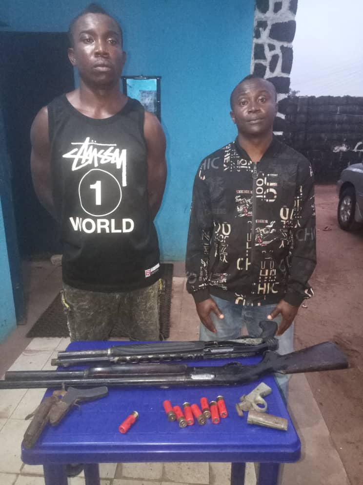 Darlington Ogubike and Ihuoma Emeriole. Robbery suspects arrested in Imo State