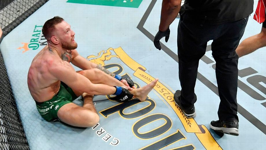Conor McGregor breaks his ankle in first round loss to Poirier