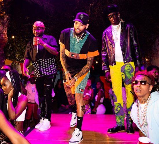 Davido with Chris Brown and Young Thug