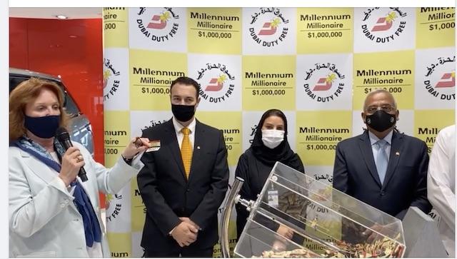Ganesh Shinde's name announced as winner of the Dubai Duty Free draw