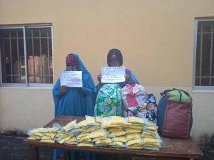 The 2 ladies arrested with suspected illicit drugs