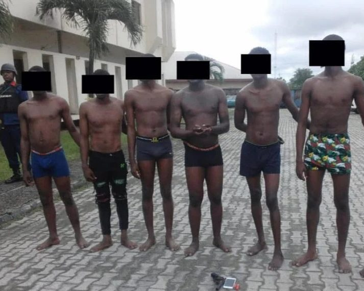 Suspects arrested by NSCDC operatives in Cross River