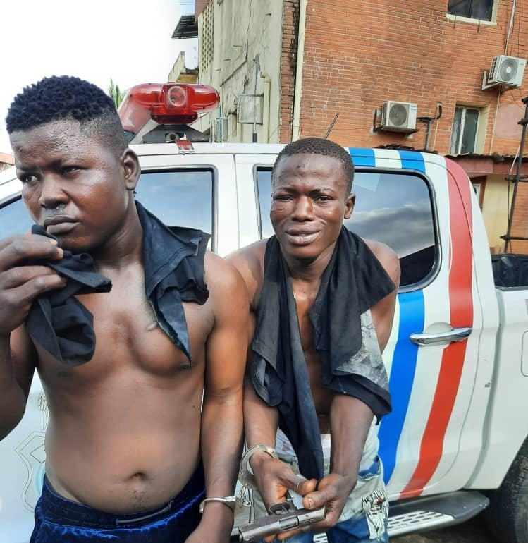 Two deadly robbers Abdulateef, Sanusi nabbed in Lagos with pistol