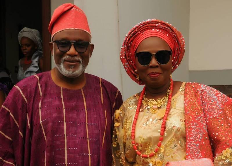 Gov. Oluwarotimi Akeredolu and his wife, Betty.