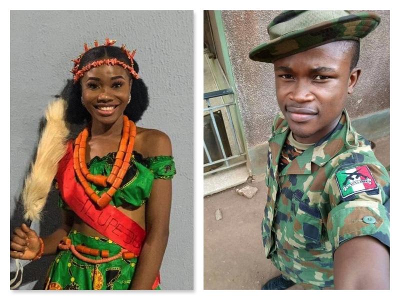 Slain Jennifer Ugadu and suspect James Matol