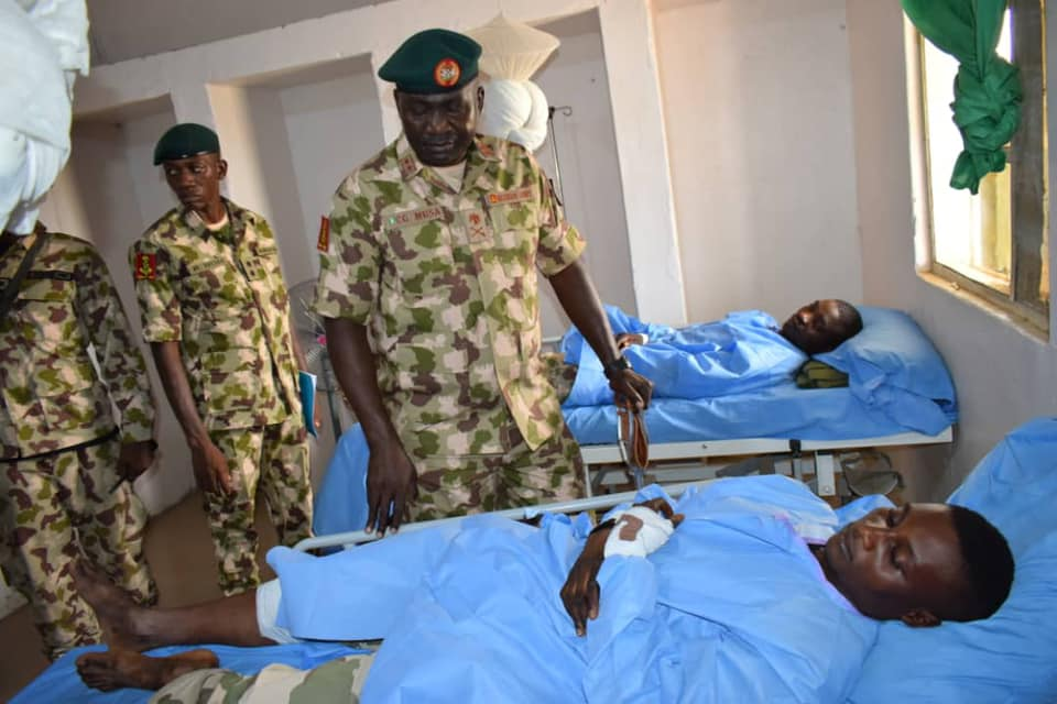 Some of Nigerian soldiers injured in battles with Boko Haram