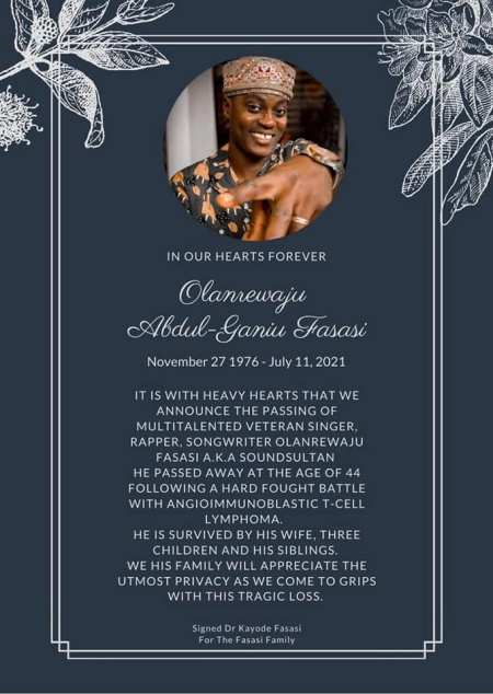 The obituary for Sound Sultan