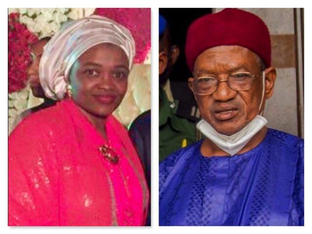 Bukar Ibrahim and his late eldest daughter Aisha