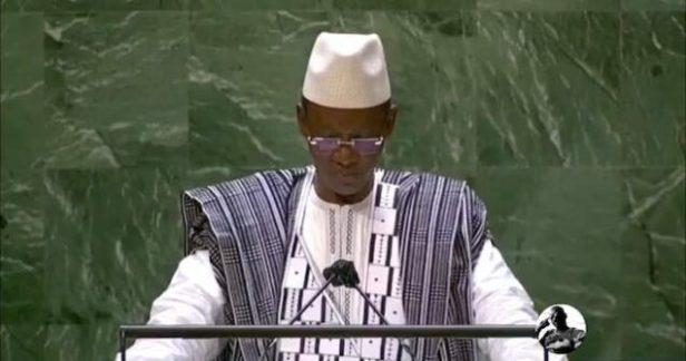 Mali's Prime Minister Choguel Maiga at the UN: defends hiring Russian mercenaries