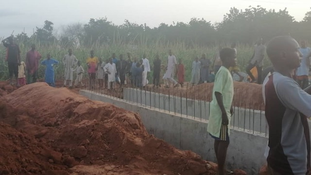 One of the roads being built in Jega township