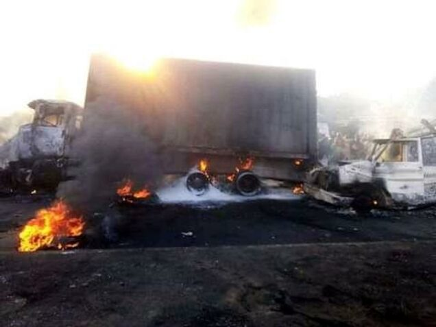 the petrol tanker fire in Rivers Tuesday