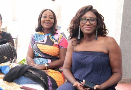Lape Silva and Mrs Jumoke Dawodu, sisters of the celebrant