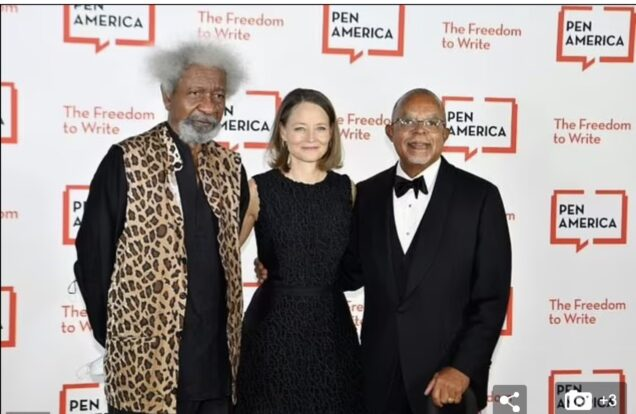 Wole Soyinka, Jodie Foster and Henry Louis Gates Jr.