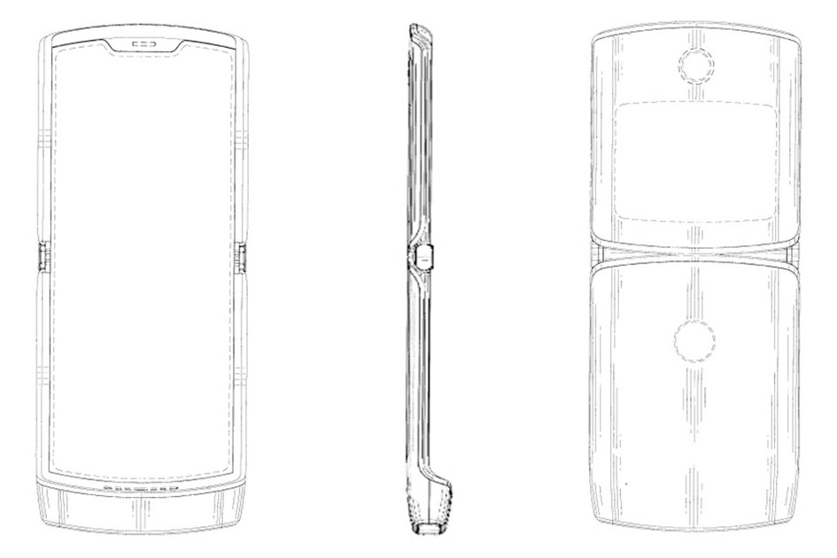 Motorola Razr 2019 patent shows foldable phone with retro