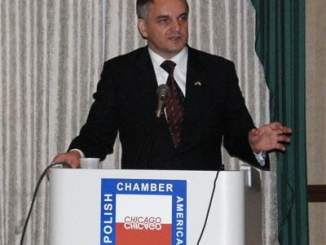 Waldemar Pawlak at Polish American Chamber of Commerce