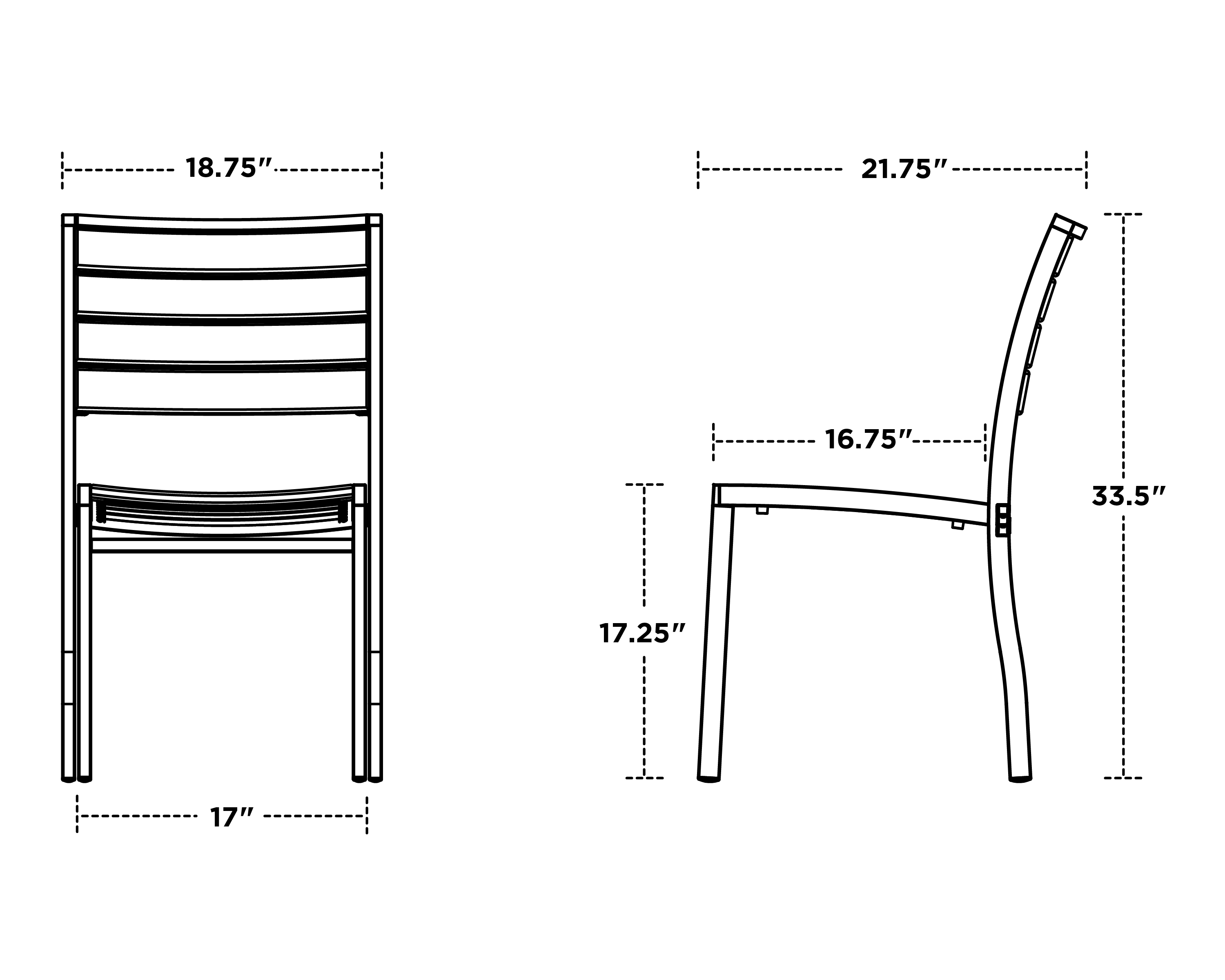 Polywood Euro Dining Side Chair