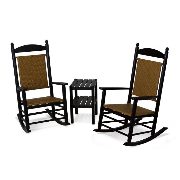 woven rocking chair venus pedicure polywood jefferson 3 piece set pws141 1
