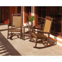 Woven Rocking Chair Pride Chairs Parts Polywood Presidential 3 Piece Set Pws167 1