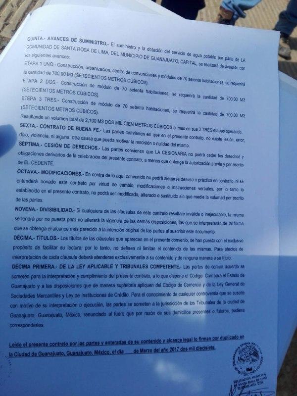 En el convenio firmado por el Comité del Agua se concede el líquido para un hotel que no excedería los 700 metros cúbicos al mes en la primera etapa