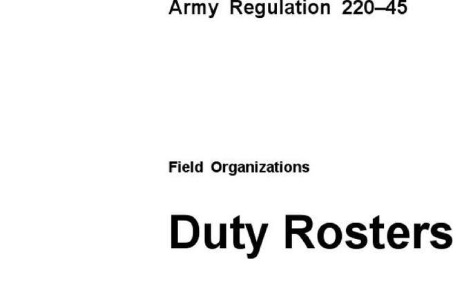 7+ Duty Roster Templates Free Download
