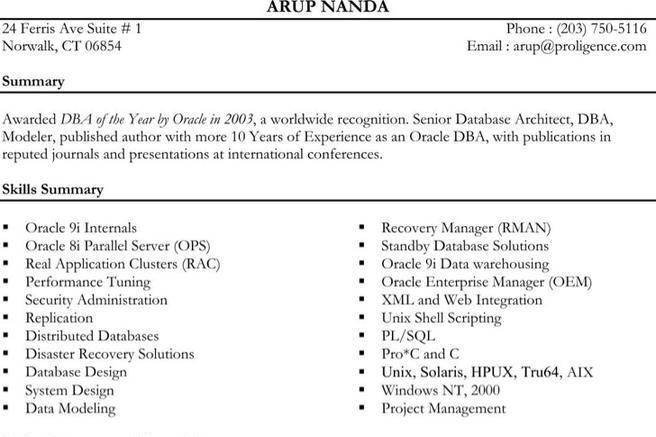 enterprise architect resume template