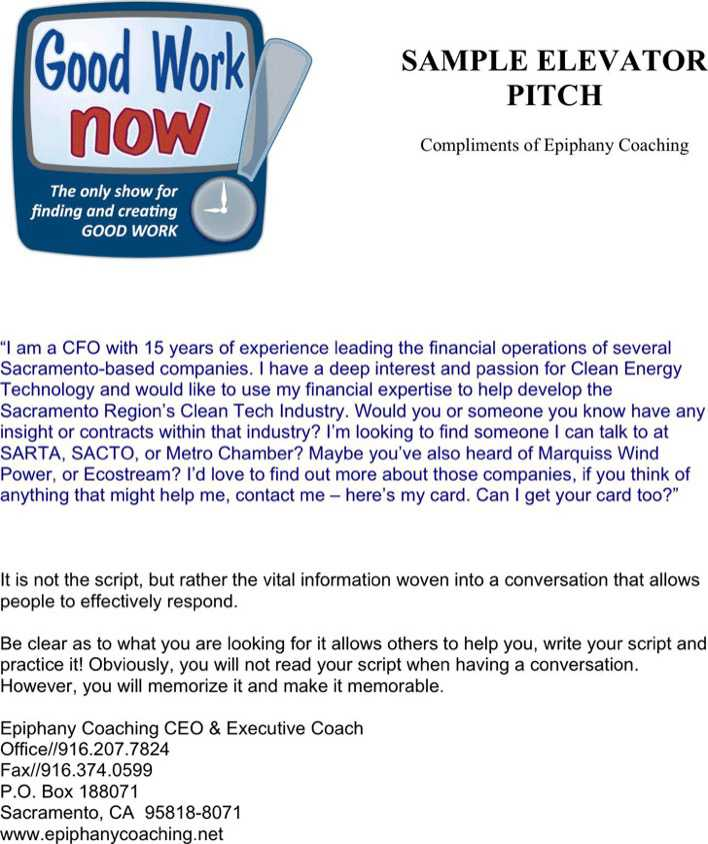 Elevator Pitch Template How To Build An Empire Pitching Seemingly