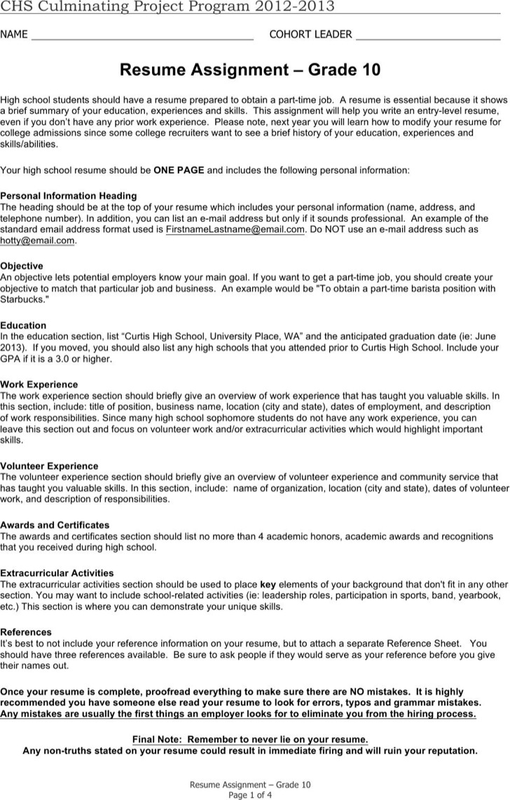 Student Resume Templates Free 6 High School Student Resume Templates Free Download