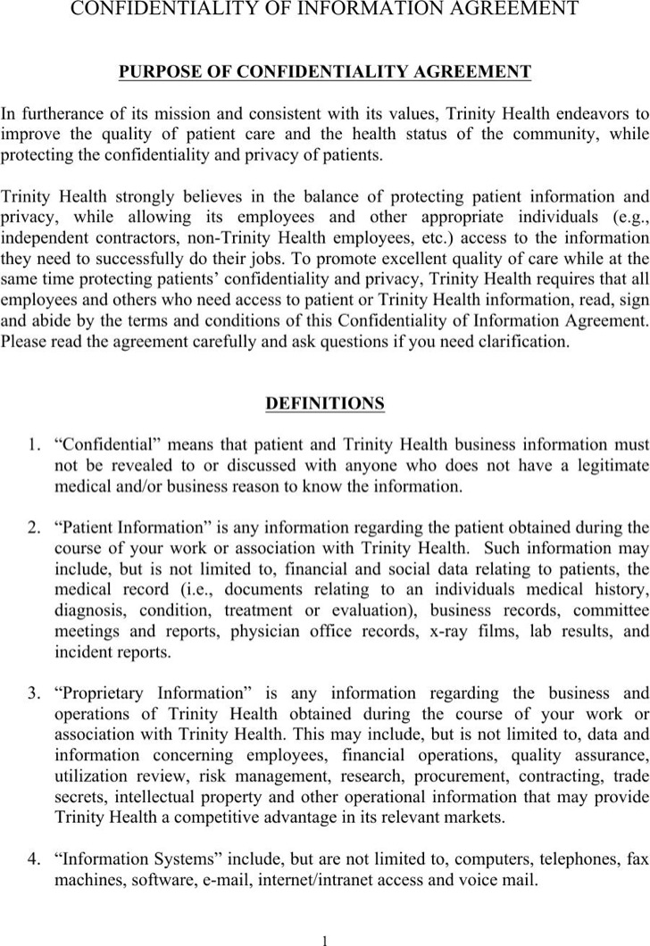 Celebrity Confidentiality Agreement Templates | Download Free ...