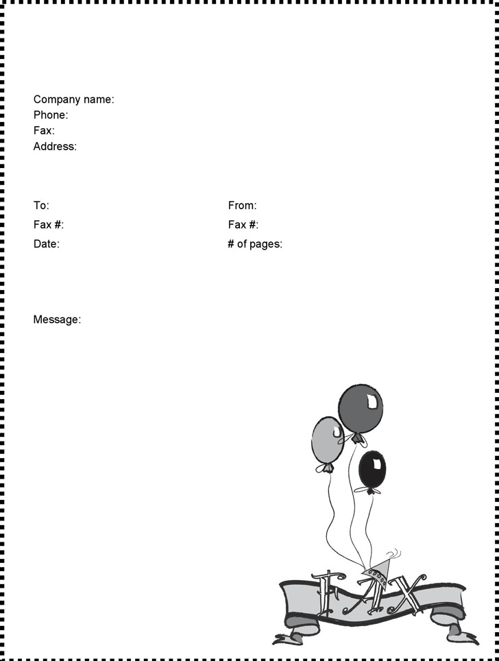 3 Funny Fax Cover Sheets Free Download