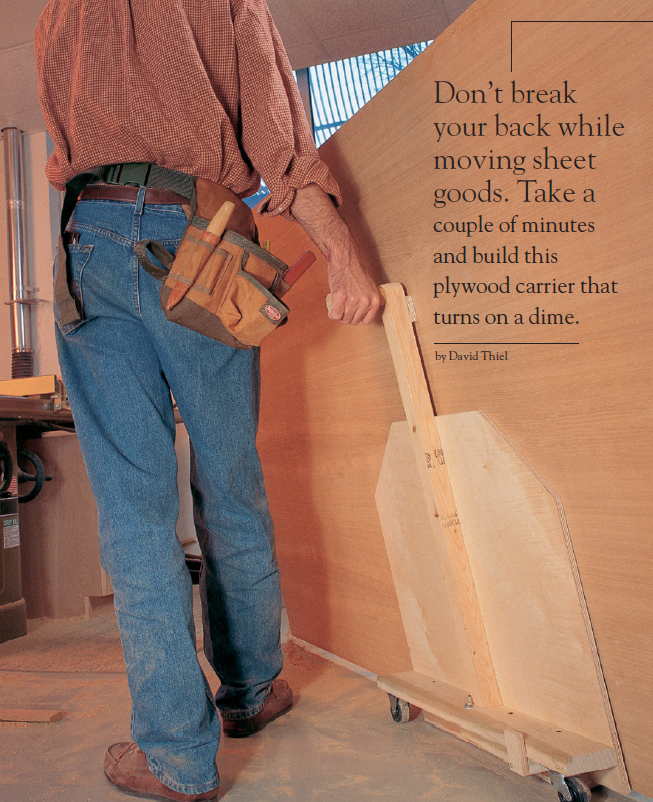 Plywood Carrier : plywood, carrier, Plywood, Carrier, Project, Download, Popular, Woodworking, Magazine