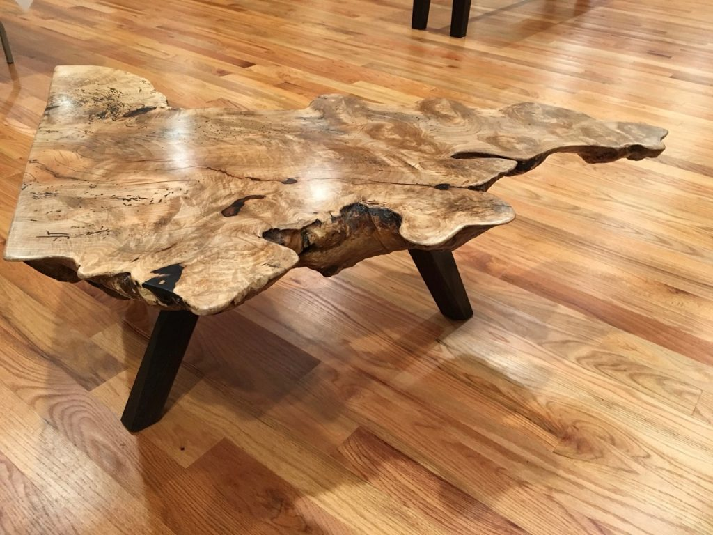 a coffee table from a burl slab part 3