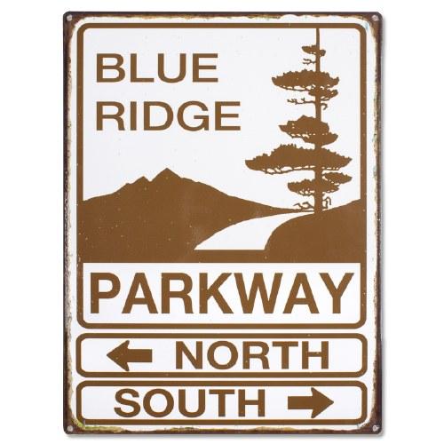 blue ridge parkway metal sign