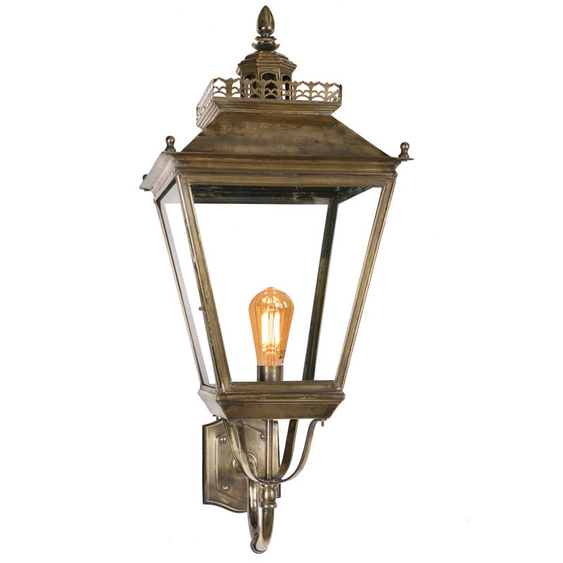 chateau large outdoor wall lantern light antique brass