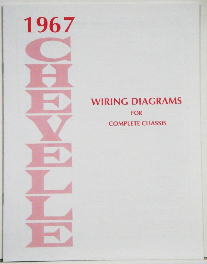 1967 chevelle factory wiring diagram manual