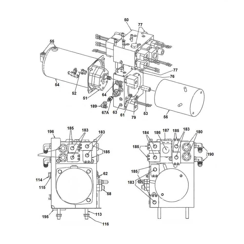 SnowDogg by Buyers V-Plow SnowPlow Hydraulic Power Units