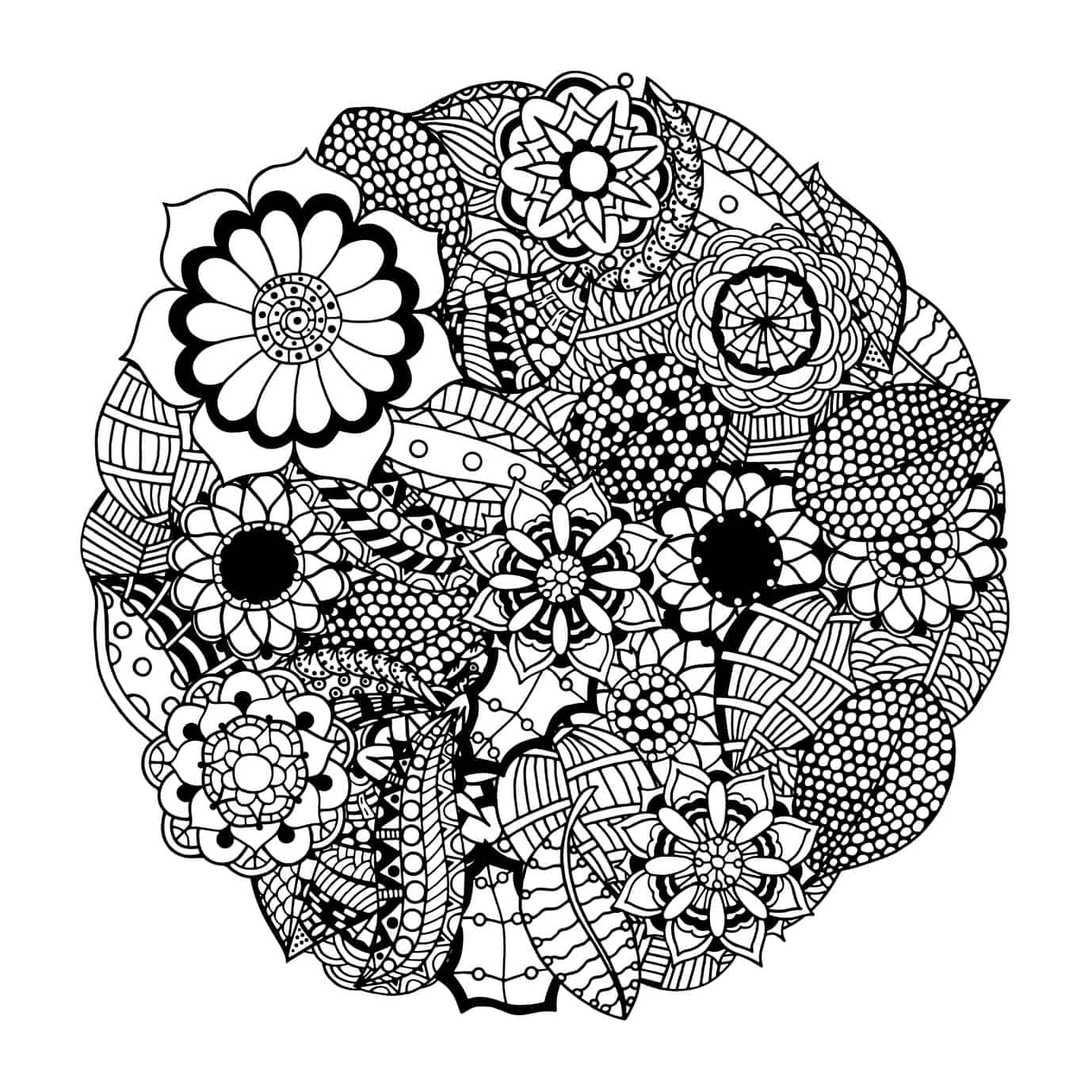 These Printable Abstract Coloring Pages Relieve Stress And ... | mandala coloring pages for adults online