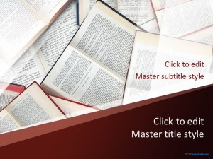 Free Books Research PPT Template