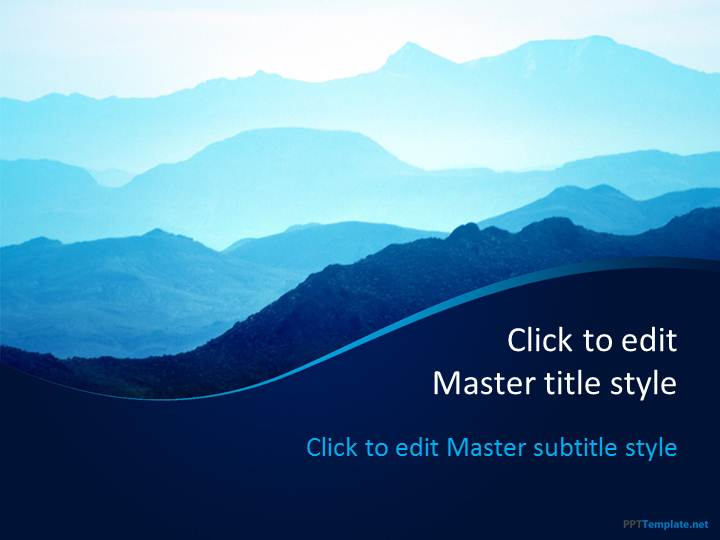 free mountains ppt template