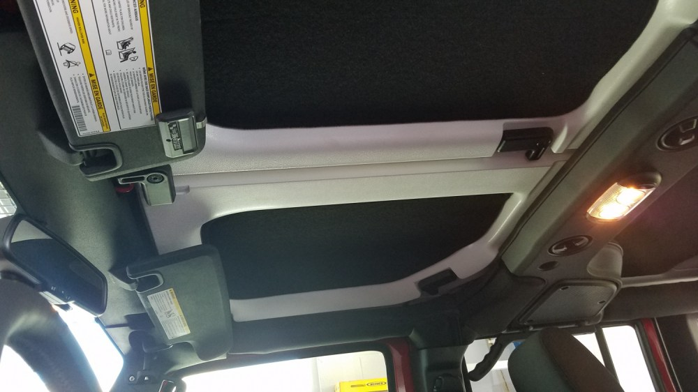 medium resolution of it is a little hard to see the rear headliner section because i have a custom shelf installed that services as a hidden rifle rack for hunting trips