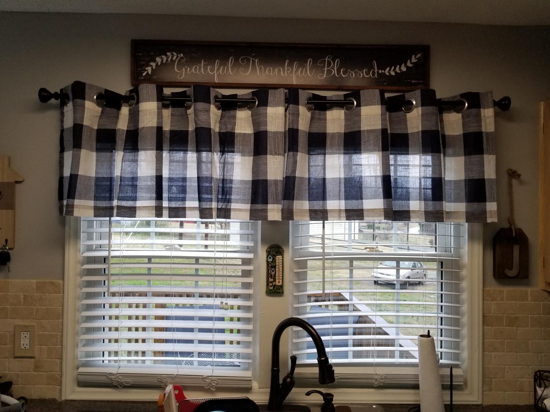 Courtyard Plaid Check Curtain Panel
