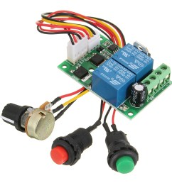 6 24v dc motor speed controller pwm control forward reverse reversible switch 3a  [ 1200 x 1200 Pixel ]