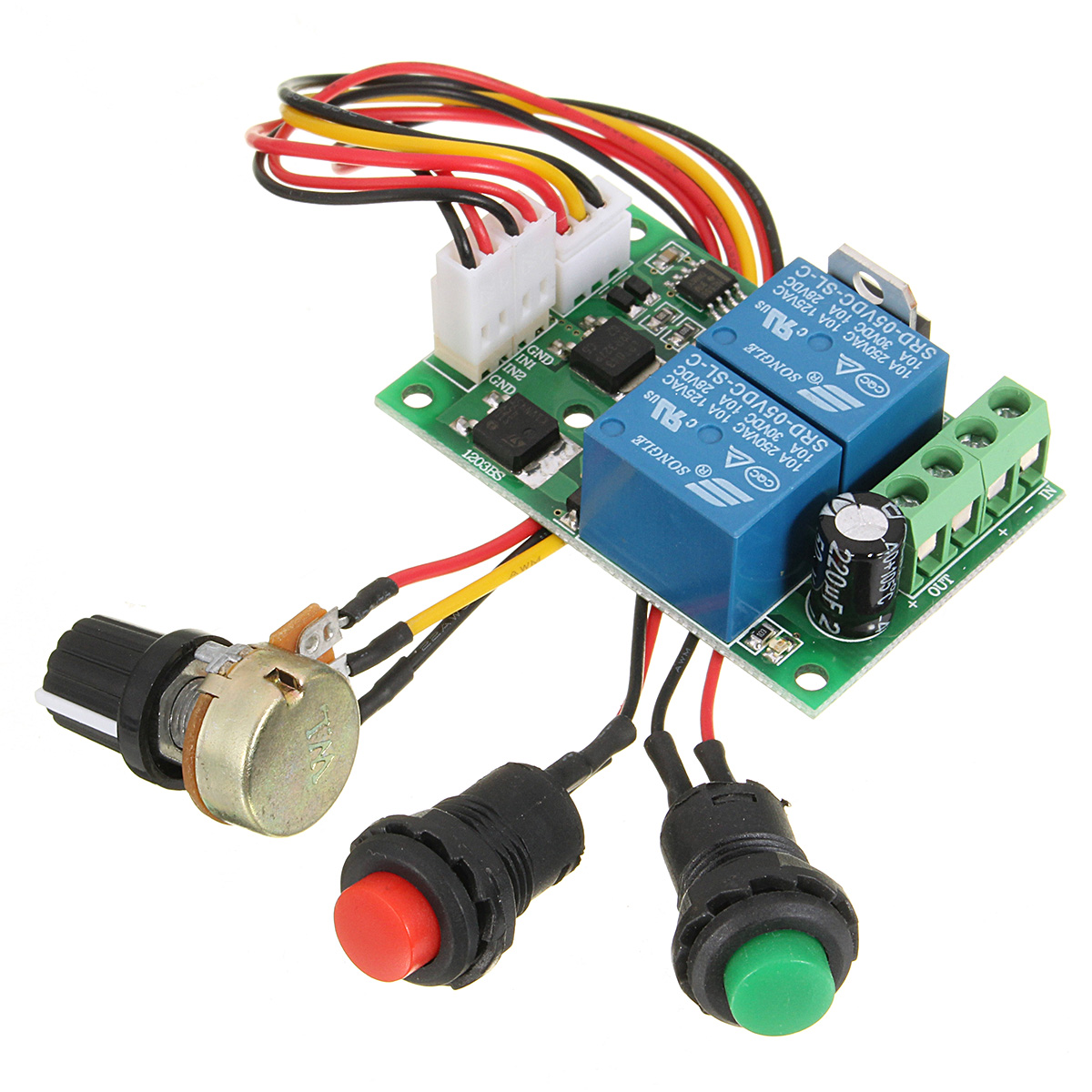 hight resolution of  6 24v dc motor speed controller pwm control forward reverse reversible switch 3a