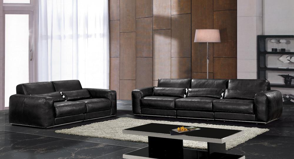 Hot Sale Modern Chesterfield Genuine Leather Living Room