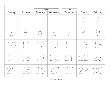 60 day calendar template - April.onthemarch.co
